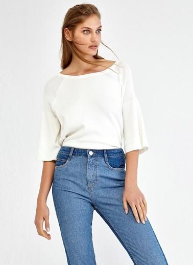 Paça Detaylı Slim Fit Jean Pantolon-Ipekyol